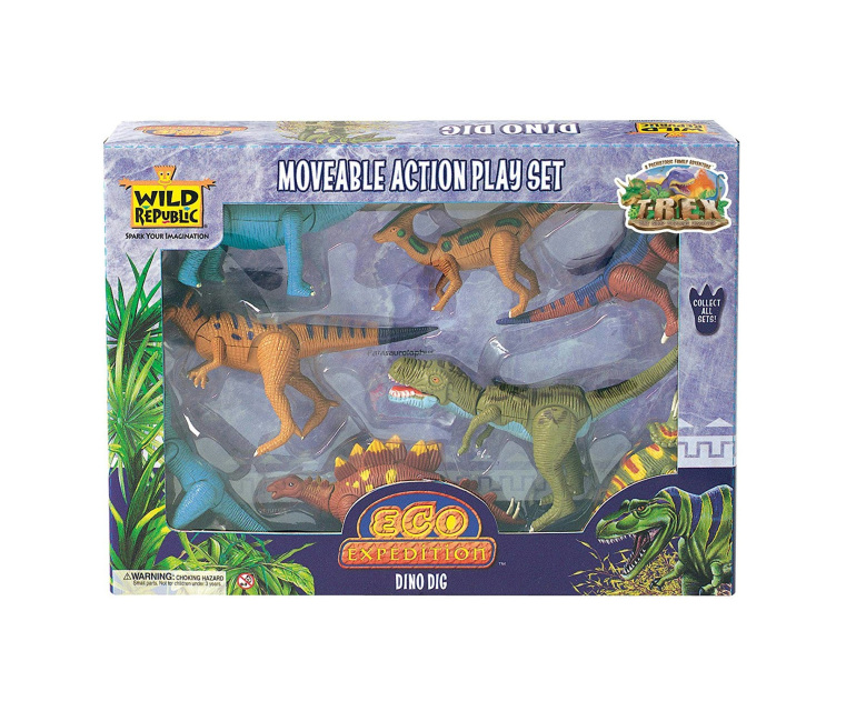 Dinosaur Eco Expedition Moveable Action Playset Wild
