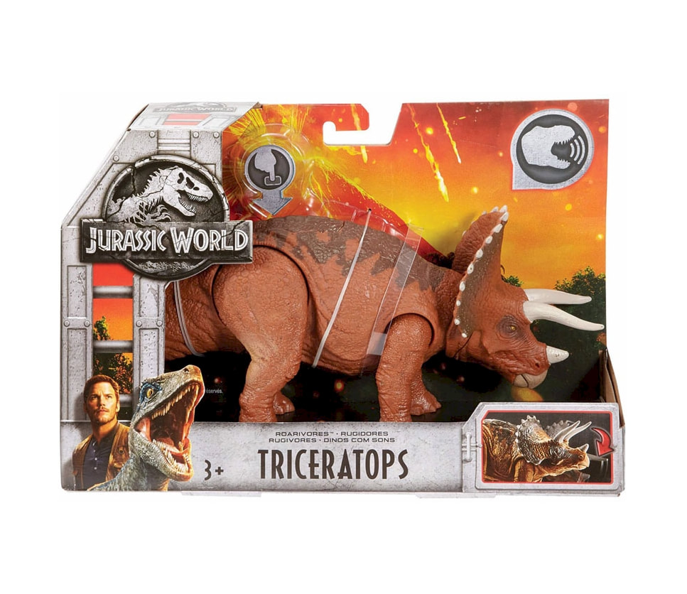 Action Figures Jurassic World Roarivores Triceratops Toys & Hobbies